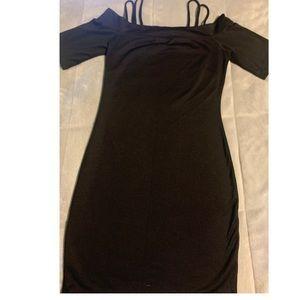 Shoulder Black dress